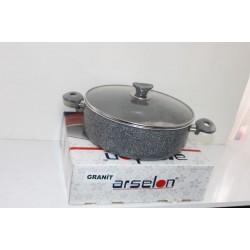 Arselon Granit Tencere (28 cm Derin Granit Tencere)